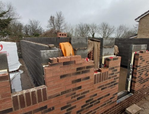 End of February 2020, Outer Brickwork Ground Level
