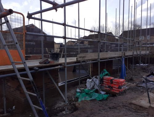 March 4th 2020, Scaffolding Erected